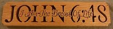 John 6:48 wooden religious plaque red oak
