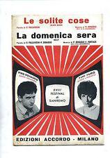 LE SOLITE COSE-LA DOMENICA SERA# Spartito Accordo 1968 # Pino Donaggio-Timi Yuro