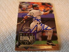 1995 Donruss # 246 James Mouton Autogramm/signed card Houston Astros