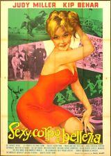 SEXY CORPO E BELLEZZA Beauty and the Body J.MILLER, MANIFESTO AFFICHE EROTICO 4F