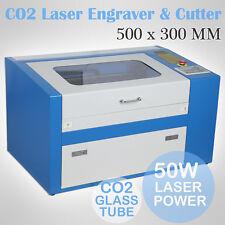 50W CO2 USB Laser Engraving Engraver Lasergravierer Graviermaschine 300mmX500mm