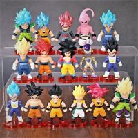 16pcs Dragon Ball Super Saiyan God Action Figure Son Goku Gohan Vegeta Veget
