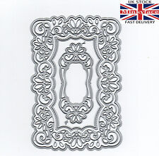 4 pce large lace die frame tag set metal cutting die cutter UK seller fast post