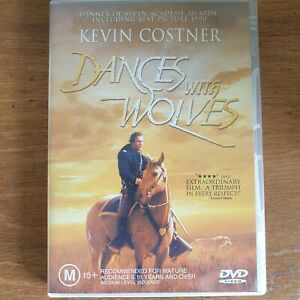 Dances With Wolves DVD Kevin Costner Action Adventure - R4 Very Good - FREE POST
