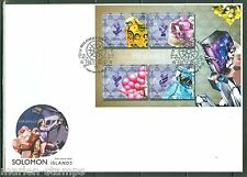 SOLOMON ISLANDS 2014 MINERALS  SHEET  FIRST DAY COVER