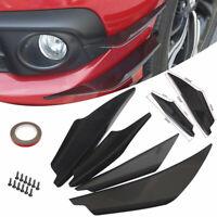 4x Universal Car Front Bumper Lip Splitter Fins Body Spoiler Canards Refit Ki YI