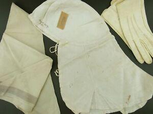 Original Camp 8 12 PA Vol Reg Civil War Havelock Cap, Neckerchief & gloves