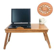 Laptop Desk Folding Foldable Lap Tray Bed Adjustable Table Stand Bamboo New