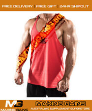 Iron Tanks Mens Marauder Stringer Singlet T Y Back | Cheapest @ MAKING GAINS