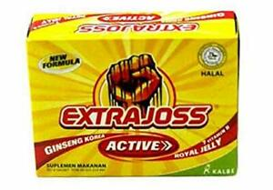 2 BOXES EXTRA JOSS Extra Energy Ginseng + Royal Jelly Sugar Free (6X4g sachets)