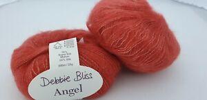 200 g  Angel Debbie Bliss Fb.15030 rost rot 76% Mohair 24% Seide