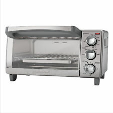 Black+Decker 4 Slice Toaster Oven Easy Controls Stainless Steel To1760Ss New