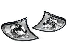 Crystal Clear Euro Corner Lights w/ Silver Trim for 02-05 BMW E46 3-Series 4DR