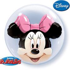 Minnie Mouse Double Bubble Palloncino Festa Di Compleanno Decorazione Forniture