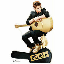 JUSTIN BIEBER BELIEVE Lifesize CARDBOARD CUTOUT Standee Standup Poster FREE SHIP