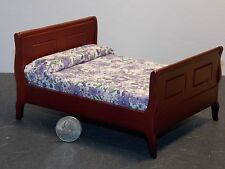 Dollhouse Miniature Sleigh Bed Mahogany 1:12 one inch scale F2C Dollys Gallery