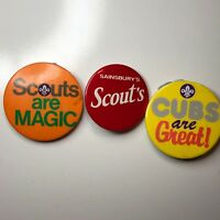 3 Scout & Cubs Pin Badges