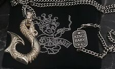 "$985 King Baby Studio Vintage-Rare Dragons Tail Pendant On 24"" KB Necklace"