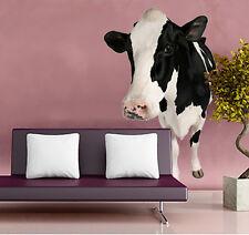 Holstein Mucca Fattoria Animale Grande foto realistiche Rimovibile murali Adesivo Muro