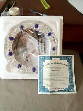 "Jeweled collector plate, Bradford Exchange - ""A Royal Bride"" 2011 Kate & William"