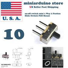 10pcs on-off switch mini 1 Way 2 Postion Slide Switch PCB Mount Electronics