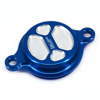 CNC Oil Filter Cover Cap For Yamaha YZ YZ250F YZ450F YZ250FX WR250F 2015 Blue
