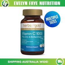 HERBS OF GOLD Vitamin C 1000 Plus Zinc & Bioflavonoids 120 Tablets | Antioxidant
