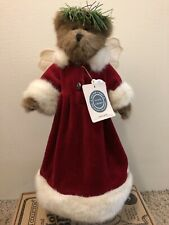 """Boyds Bears Holly Beary Tree Topper Limited Edition 13"""" Plush Angel"""