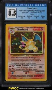 1999 Pokemon Portuguese Base Set Holo Charizard #4 CGC 8.5 NM-MT+