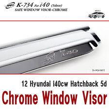 Chrome Window Visor Vent 4p 1Set For 12 Hyundai i40cw Hatchback 5d