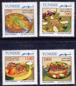 2009.Tunisia. Meals of Tunisia. Set of 4 stamps. MNH
