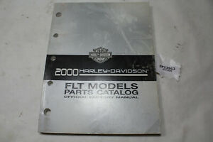 2000 Harley FLT parts manual catalog 99456-00A FL Touring book FLH EPS23563