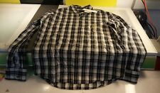 Calvin Klein Jeans Men's size Large plaid dress shirt buttoned down new with tag