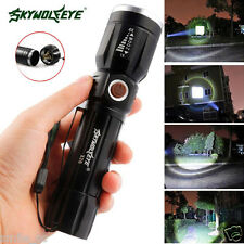 6000Lumens 5 Modes CREE XM-L T6 LED 3 AAA Batería Linterna Focus Zoomable Luz