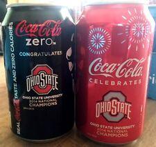 2014 Ohio State OSU National Football Champions Coca-Cola Coke Zero Can Set