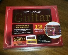 How To Play Guitar Playing Basics For Beginners 12 Fretboard Stickers Box Kit