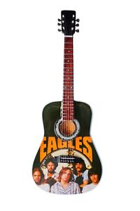 Wooden Miniature Guitar Replica ' The Eagles ' Tribute