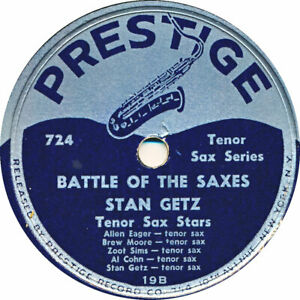 78 RPM - Stan Getz - Battle of the Saxes / Wrap your Troubles in Dreams - 1949
