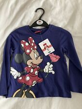 Minnie Mouse Long Sleeve T Shirt Top 3-4 Years New
