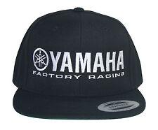 YAMAHA FACTORY RACING HAT CAP FLAT BILL SNAP BACK BLACK  MX YZF YFZ RI R6