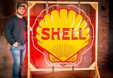 Original Shell Gas Oil Porcelain Neon Sign- MINT.