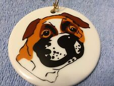 KATHERINE WASHBURN CERAMICS: DOG CHRISTMAS ORNAMENT #5