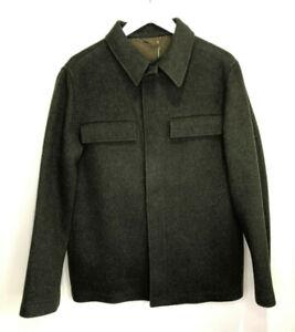 BNWT Holland & Holland Men's Pea coat green loden wool shirt jacket M NEW £990