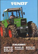 """Fendt """"Favorit"""" Tractor Brochure Leaflet"""