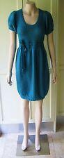 2b bebe Designer Dress Woolen Knitted Dress Short Sleeve Size-10 Emerald Green