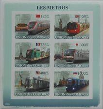 Metro Trains Subway Locomotives Comores 2008 m/s Sc.1015 MNH #CM8120a IMPERF