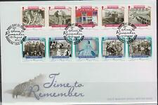 GB - ISLE of MAN 2005 Time To Remember - Manx Heritage Foundation SG 1237/46 FDC