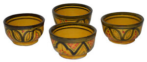 Serving Bowl Moroccan Soy Sauce Ice cream Nuts Appetizer Salsa Set of 4 X-Small