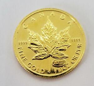 1999 Canada 1/10th .9999 GOLD $5 Maple Leaf Coin loose BU L9678