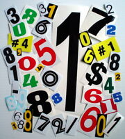 ONE LOT OF 40 AUTOADHESIVE GLOSSY VINYL NUMBERS, IN.OR OUTDOOR USE, SCRAPBOOK +